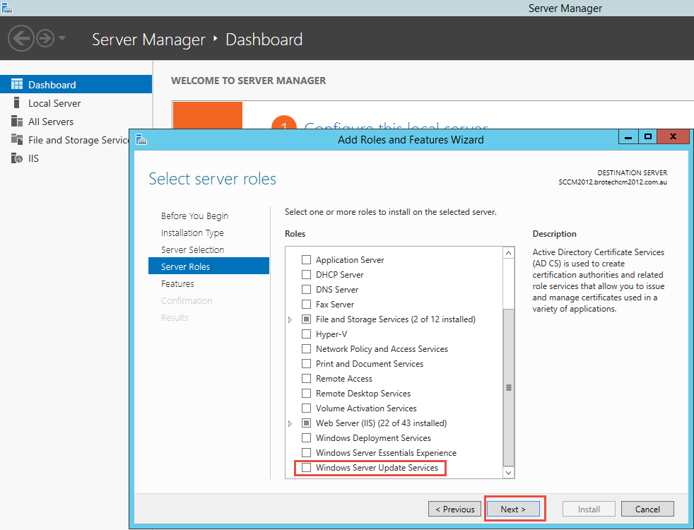 Part 1 Installing Software Update Point Role Sccm 2012