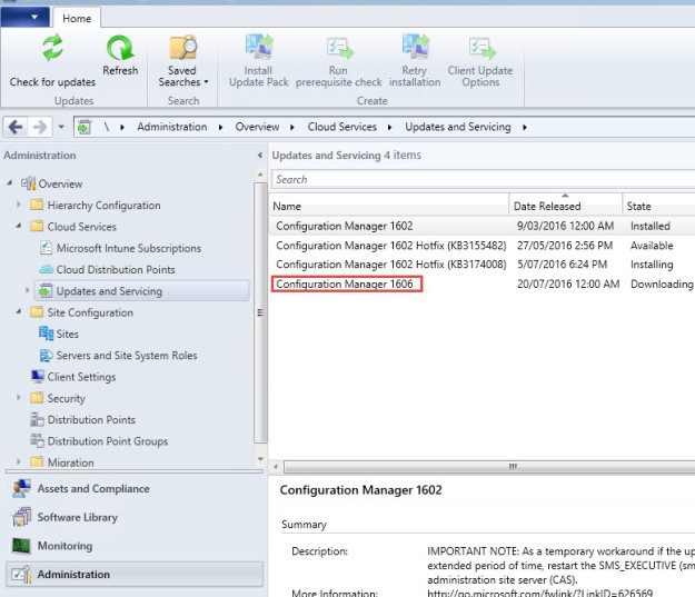 Update 1606 released for SCCM Current Branch | ConfigMgr & Intune blog