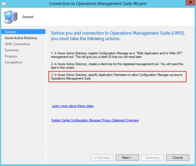 ConfigMgr 1606 – Microsoft Operations Management Suite (OMS