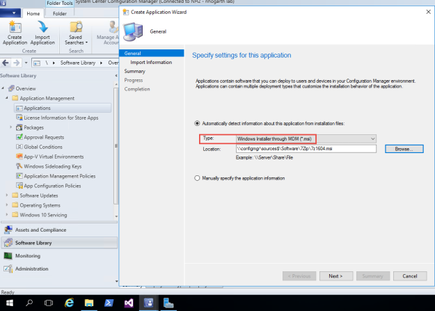 Intune Hybrid – Deploy msi to enrolled Windows 10 machine