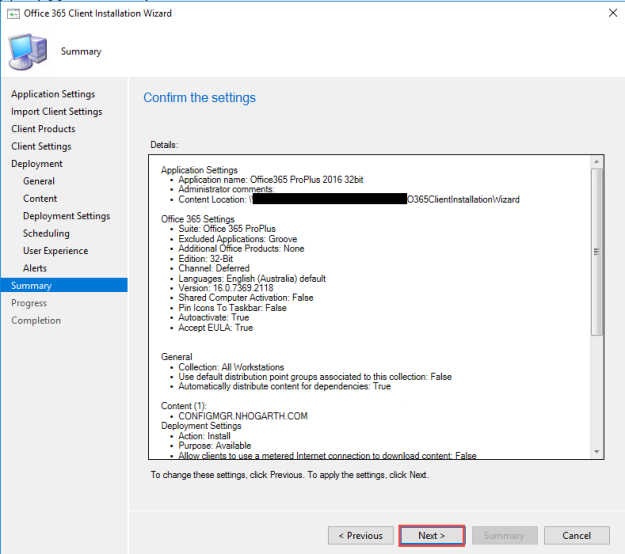SCCM Current Branch 1702 – Office 365 Installer | ConfigMgr