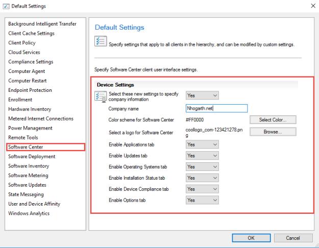 SCCM TP 1708 – Software Center Customization | ConfigMgr