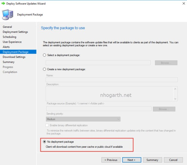 SCCM TP 1806 – Deploy updates without downloading them