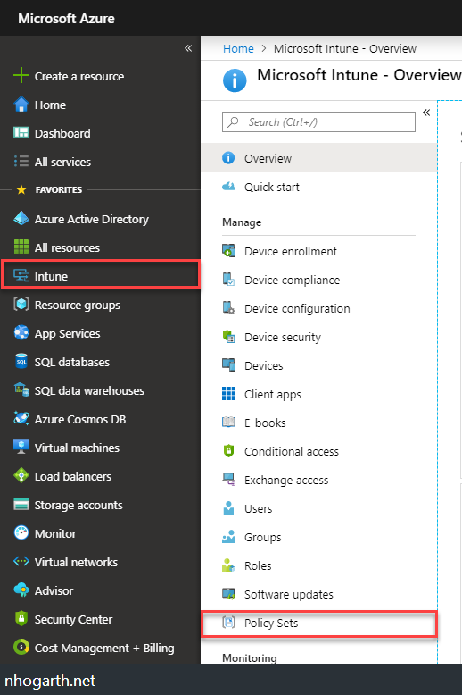 Intune – Policy Sets